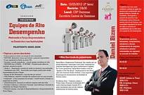 Folder da palestra de Daniel Bizon em Ipatinga MG