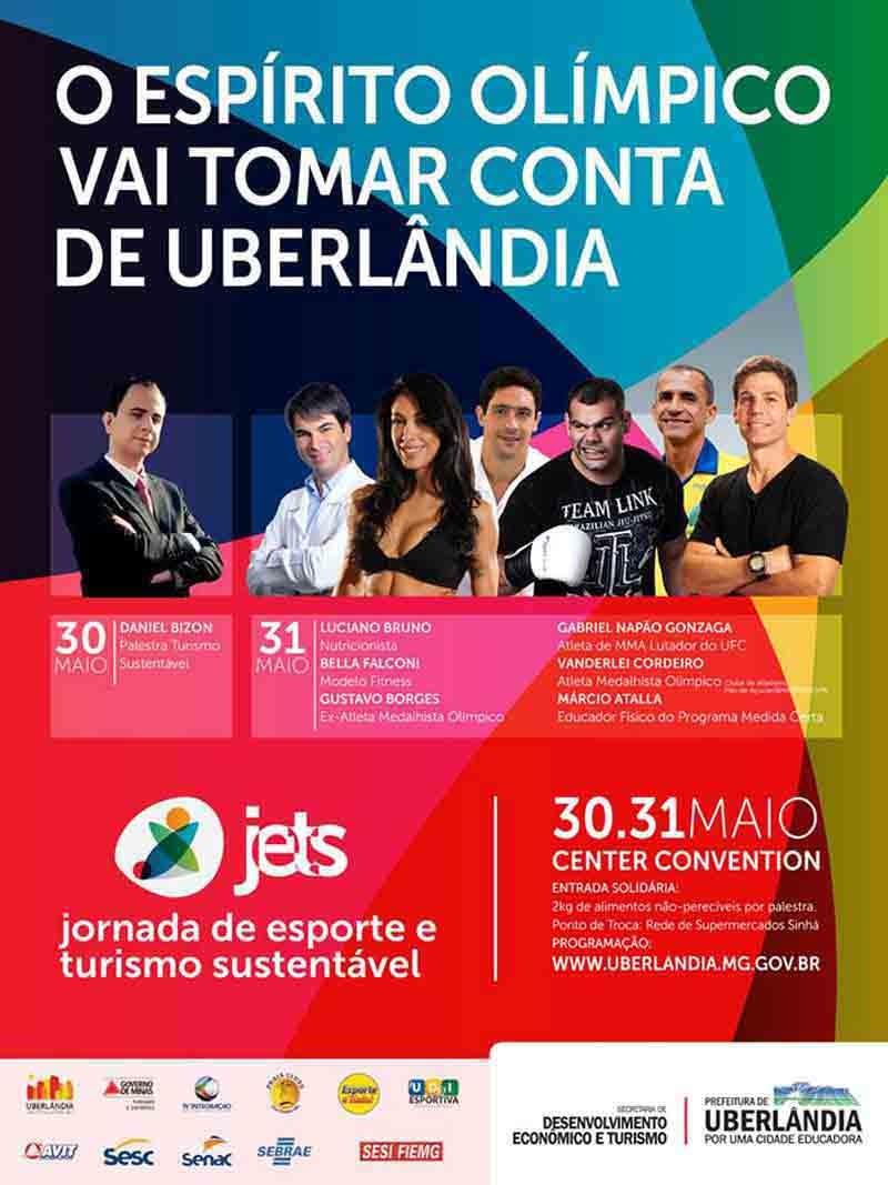 Programação de palestrantes celebridades da Jets Uberlândia
