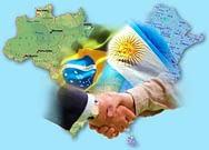 Imagem simbólica de cumprimentos entre Brasil e Argentina