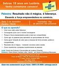 Anúncio da palestra com Daniel Bizon em Luziânia Goiás