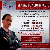 VENDAS DE ALTO IMPACTO COM DANIEL BIZON EM TERESINA PI